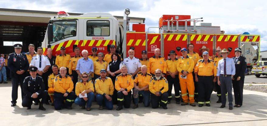 EVERYDAY HEROES: RFS long service award recipients on Sunday. Photo: supplied.