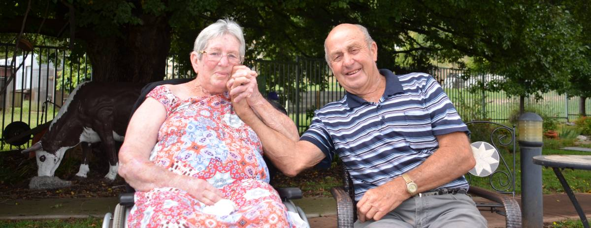 TOGETHER FOREVER: Pauline and Lloyd Levingston have enjoyed more than 60 years of being 'best mates'. Photo Vanessa Arundale.