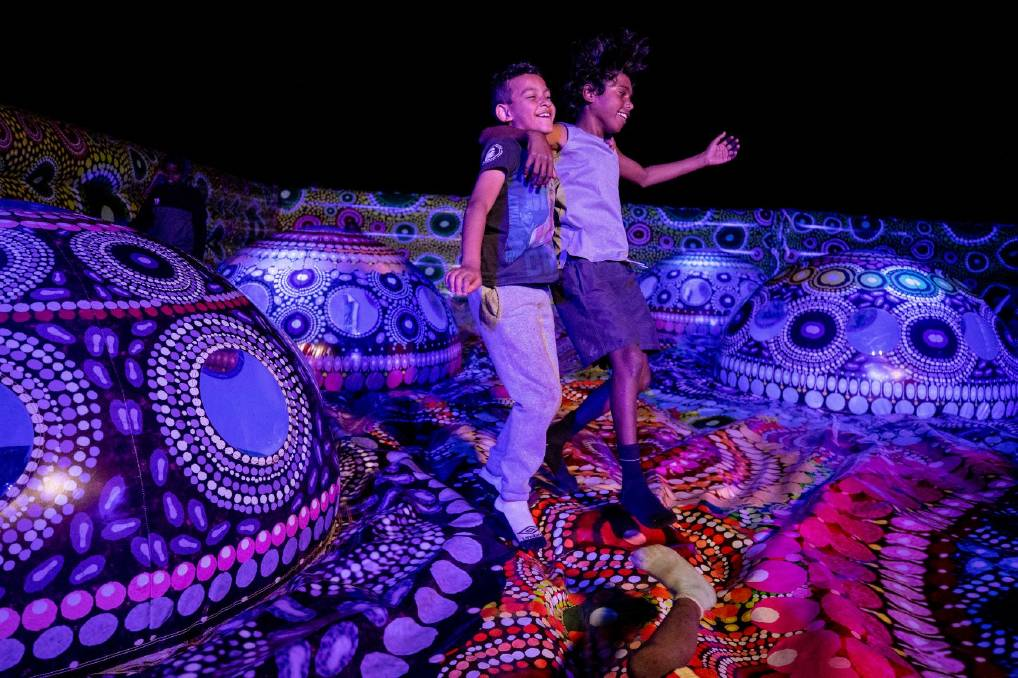 Alice Springs bursts even more into life for Parrtjima, starting early April. Picture: James Horan