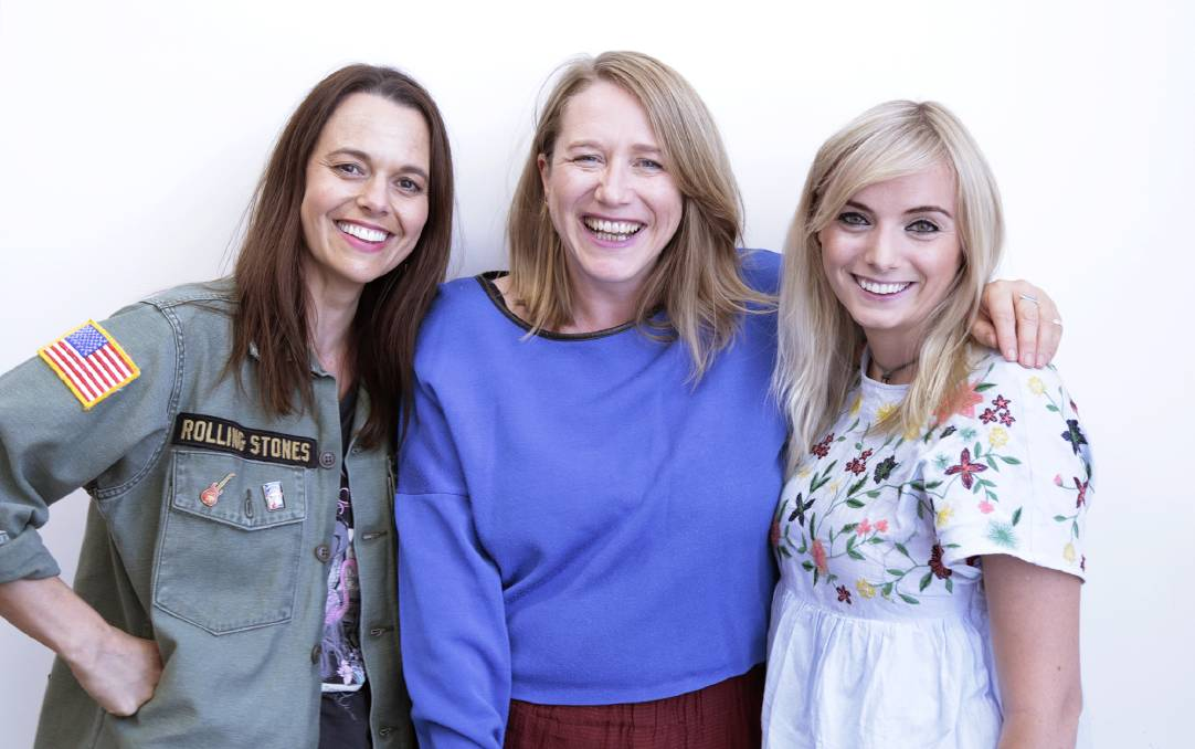 Live and lively: Mia Freedman, Holly Wainwright and Jessie Stephens from Mamamia Out Loud!.