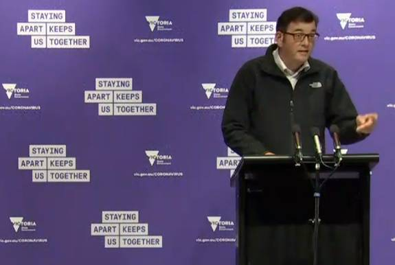Victorian Premier Daniel Andrews has announced the lifting of restrictions on Metropolitan Melbourne. Photo: screen grab