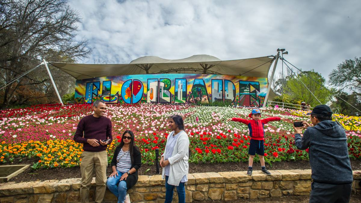 Floriade could still be held at Commonwealth Park this year. Picture: Karleen Minney