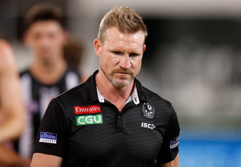 Nathan Buckley is entering the final year of his contract with Colllingwood. Photo: Michael Willson/AFL Photos via Getty Images