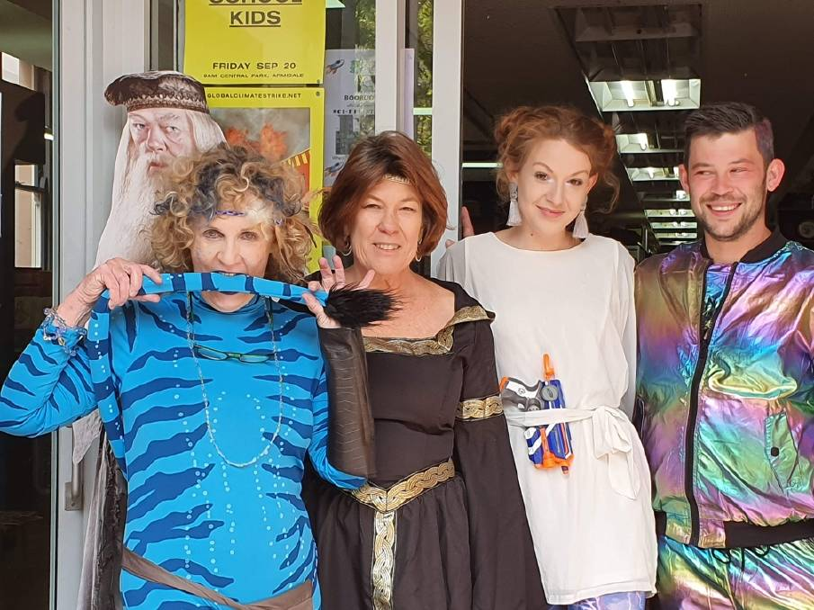 IT'S A KIND OF MAGIC: Boobooks owners Debra O'Brien and Yvonne Langenberg with assistants Glenn McKeon and Amber Mason. Photo: Richard Sheridan.
