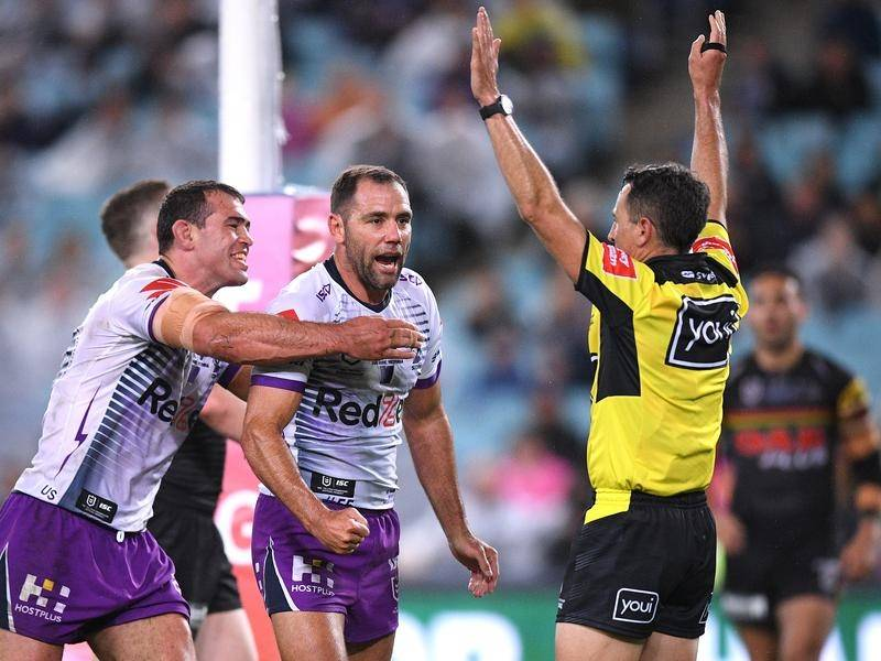 Cameron Smith was among Melbourne's four tryscorers in their NRL grand final win over Penrith.