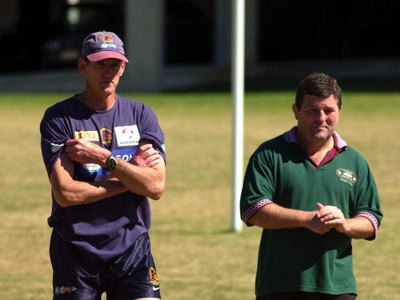 Royce Simmons (right), seen here with Wayne Bennett, is still paying for his legendary beer promise.